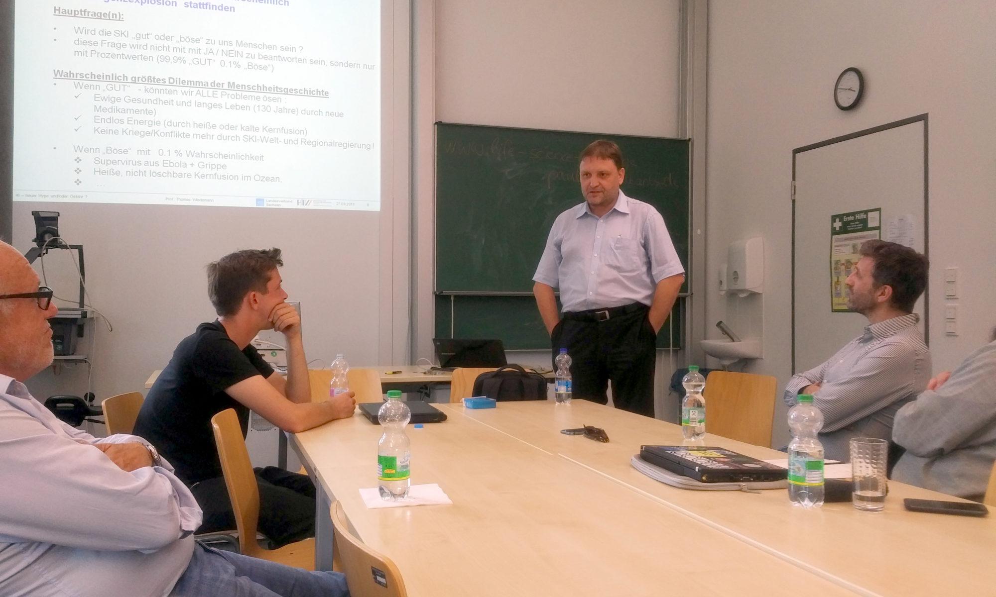 Vortrag von Prof. Wiedemann beim Beiratstreffen von NetPhilTech